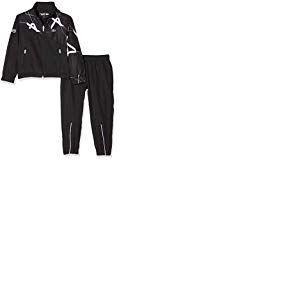 Lacoste Sport WJ9485 Ensemble Garçon, Noir (Noir Blanc Hjs), 10 ans (Taille fabricant:10A)