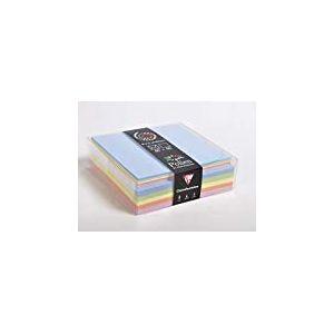 Clairefontaine 20803C Coffret 40 enveloppes 14 x 14 cm + 40 cartes 13,5 x 13,5 cm Printemps 5 couleurs
