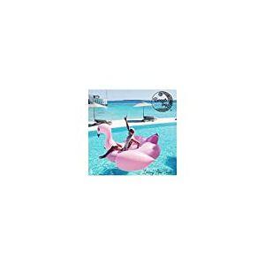 BEACHTOY Matelas Gonflable Light Pink Flamingo 2-3 Personnes Bouée Géante 190 x 190 x 130 cm