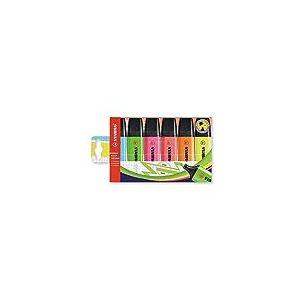 Surligneur - STABILO BOSS ORIGINAL - Pochette x 6 surligneurs - Coloris assortis