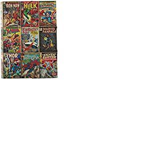 Erik® - Chemise cartonnée à élastique 3 rabats Marvel Comics - Rigide - 24 x 34 cm