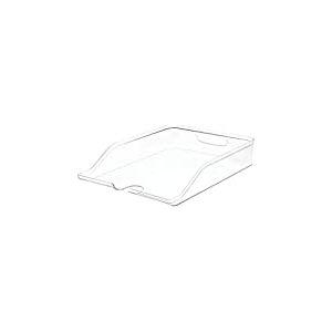 iDesign Casier Rangement pour Frigo, Bac Alimentaire en Plastique sans BPA, Bac Rangement pour les Bouteilles dans la Cuisine, Transparent