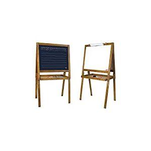 Jeujura - 8758-Tableau en Bois-Grand Tableau dessin d' Ecolier en Bois Teinté Chêne