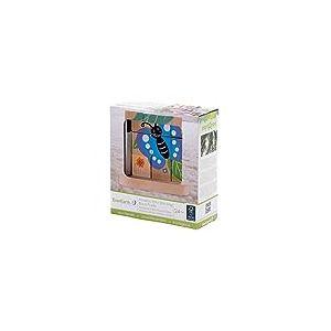 Everearth - EE32674 - Jouet de Premier Age - Puzzle à Empiler de la Chenille au Papillon en Bois FSC