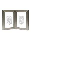 Deknudt Frames S41VD1 H2V Cadre Photo Diptyque Vertical Résine Argenté 15 x 20 cm