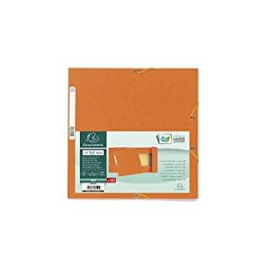 Exacompta Lot de 10 Chemises cartonnée avec Rabat élastique 24 x 32 cm Orange