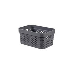 CURVER | Bac Infinity 4,5L Dots - Plastique recyclé, Gris, Crates, 26x17,5x12,3 cm