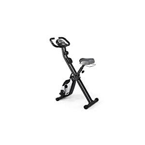 Ultrasport Vélo d'appartement F-Bike Heavy, vélo d'intérieur, vélo de fitness avec console et capteurs de pouls, pliable, Noir/Argent