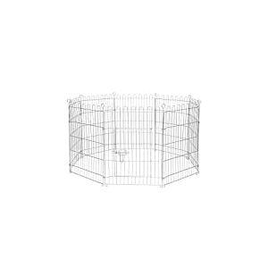 Dibea Parc/Enclos Métal Extérieur pour Chien/Chiots/Rongeur Hauteur Différente 78 cm Taille L 8 Pièces
