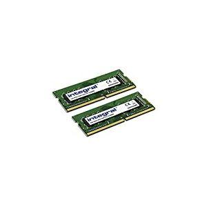 Integral DDR4 32 Go (2x16 Go) 2400Mhz SODIMM PC4-19200 1.2V 1GX8 CL17 Kit Mémoire Ordinateur Portable