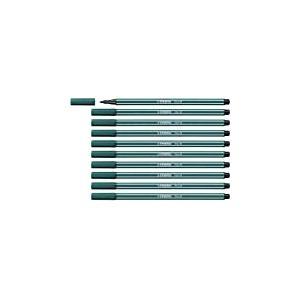 Feutre dessin - STABILO Pen 68 - Lot de 10 feutres pointe moyenne - Vert bleu (68/53)