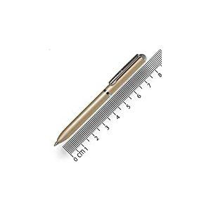 ONLINE 43021/3D Stylo bille Mini Portemonnaie, Champagne, rétractable, avec recharge D1 encre noire, rechargeable