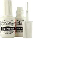 World of Nails-Design professionnel colle, colle pour ongles dans la bouteille Pinceau de sauna (2x 7,5g)