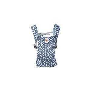 Ergobaby Porte-Poupée jouet pour Enfants,Porte-Bébé Daisies Bleu pour Poupon, 100% Coton