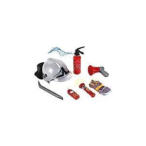 Klein 8928 Set de pompier | Avec 7 accessoires dont un casque, une lampe-torche électronique et beaucoup d'autres choses | Extincteur avec fonction pulvérisation | Dès 3 ans
