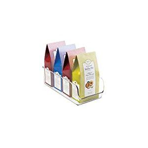 iDesign boîte de rangement, bac plastique moyen pour le placard ou le frigo, bac alimentaire pratique sans couvercle, transparent