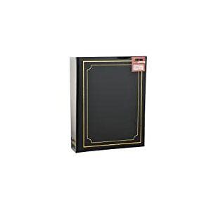 ARPAN Album Photo uni 200 Pochettes 15 x 10 cm, Noir, 18.3 x 4.5 x 22.9 cm