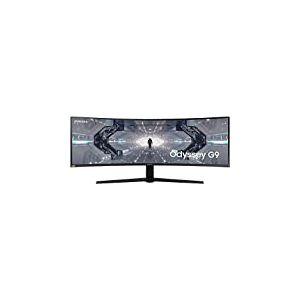 "SAMSUNG ODYSSEY G9 49'' Ecran PC Gaming Incurvé 1000R, Dalle VA 49"", Résolution DWQHD (5120 x 1440), 240 Hz, 1ms, GSYNC Compatible, AMD FreeSync Premium Pro, HDR1000, Noir"