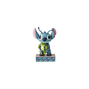 Disney Tradition 4059741 Figurine Stich et Grenouille, résine, Multicolore, 9,5 x 5 x 9,5 cm