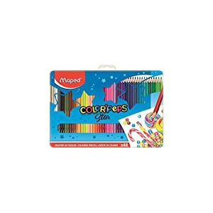 Maped Boîte métal de 48 crayons de couleurs différentes