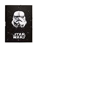 Erik® - Chemise cartonnée à élastique 3 rabats Star Wars Stormtrooper - Rigide - 24 x 34 cm