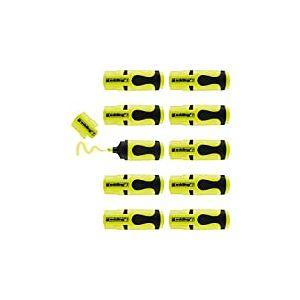 edding 7 Mini-surligneur - jaune fluorescent - 10 surligneurs - pointe biseautée 1-3 mm - petits surligneurs aux couleurs tendance - pour les bullet journals, l'école, l'université ou le bureau