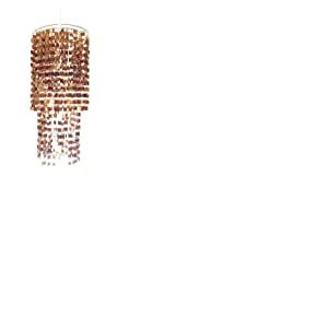 Loxton Lighting Lustre Cascade, Marron clair