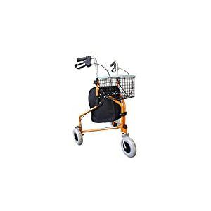 Mobiclinic Déambulateur pour personnes âgées 3 roues pliable Ultra léger Réglable en hauteur Livré avec panier et sac de transport Couleur orange Poids maximum 100 kg Modèle Caleta