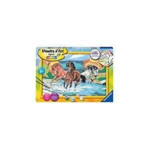 Ravensburger – Numéro d'art – grand format – Horde de chevaux – loisir créatif – peinture – enfant dès 9 ans – 28682