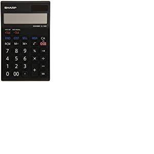 Sharp Electronics EL128RWH Calculatrice 12 chiffres avec option conversion de monnaie Noir/blanc