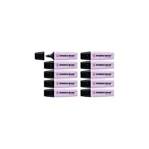 STABILO BOSS ORIGINAL Pastel 70/155 Lot de 10 Surligneurs Brume de lilas