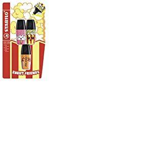 STABILO BOSS Mini Sweet Friends Lot de 3 surligneurs Rose/jaune/orange