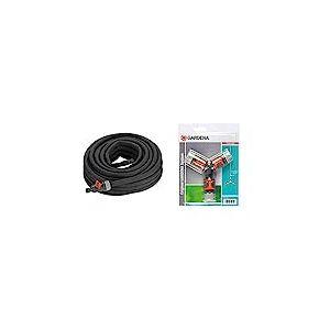 """Tuyau d'Arrosage Micro-Poreux de Gardena, 15 M & Nécessaire de Dérivation en Y pour Arrosage 13 mm (1/2"""")/15 mm (5/8"""") de Gardena: Raccord de Dérivation pour une Distribution Simple"""