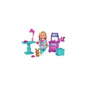 Simba - Evi Love Clinique Vétérinaire - Mini Poupée 12cm - Table d'Opération + 1 Lapin à Soigner - Nombreux Accessoires Inclus - 105733486002