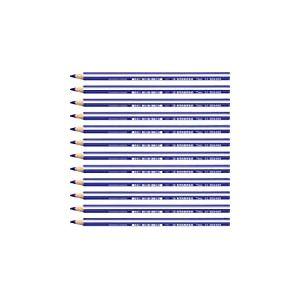 STABILO Trio thick - Lot de 12 crayons de couleur triangulaires - Bleu foncé