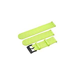 Suunto Bracelet de remplacement Original pour les Montres Suunto Spartan Sport WRH, Suunto 9, Silicone, Longueur : 22,9 cm, Largeur : 24 mm, Vert/Noir, avec Broches de fixation, SS050226000