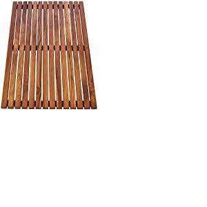 Asinox TEK4A5080 Caillebotis de Douche Bois Marron 80 x 50 x 4 cm