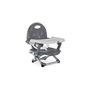 Chicco - Réhausseur Pocket Snack - Rehausseur de Chaise Bébé & Enfant - Gris foncé