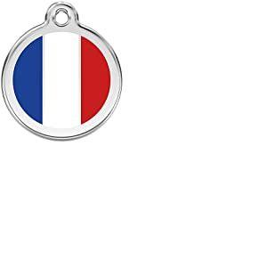 Red Dingo Médaille pour Chien Motif Drapeau Français 38 mm