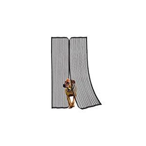 5510d37–Moustiquaire pour porte avec fermeture magnétique et 100fixations H2