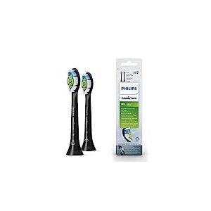 Philips Sonicare optimale Blanc DiamondClean Brushsync activée Têtes de remplacement, Noir, Lot de 2