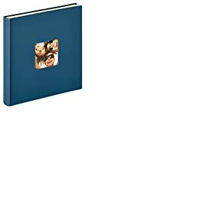 Walther Album Photo Autocollant Design Fun, 33 x 34 cm Album Photo, Structure Couverture, Bleu, 33 x 33,5 cm