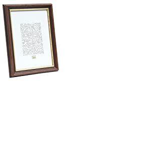 Deknudt Frames S406H2 Cadre Photo Bois Noyer Foncé + Bord Doré 15 x 20