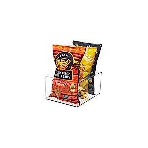 iDesign bac rangement frigo, grande boîte alimentaire spacieuse en plastique, boîte de conservation alimentaire à poignées, transparent