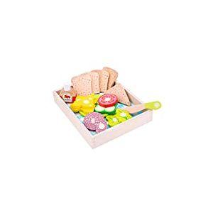 New Classic Toys - 10591 - Jeu D'imitation - Cuisine - Lunch/pique - nique à découper - Boîte 18 Pièces