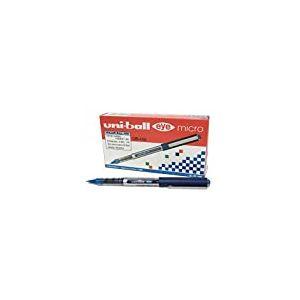 UniBall Uni Mitsubishi Eye UB 150 Stylo roller Pointe métal ultra-fine Encre liquide Bleue Lot de 12