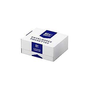 Oxford Boîte de 500 Enveloppes fermeture avec autoadhésive 110 x 220 mm