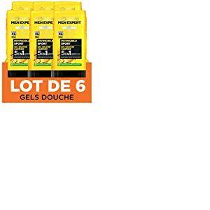 L'Oréal Men Expert Gel Douche pour Homme Invincible Sport 300 ml - Pack de 6