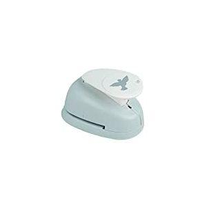 """Rayher 89857000 perforatrice fantaisie: colombe, perforeuse papier en plastique, perforatrice scrapbooking idéale pour papier/carton de jusqu€™à 200 g/m2, à˜ 3,81 cm, (1,5""""), blister-LS 1pièce, orange/gris"""