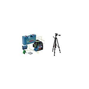 Bosch GLL 3-80G Mises à Niveau horizontales et Verticales simultanées 0601063Y00 Bleu + 0601096B00 Trépied BT 150 1/4